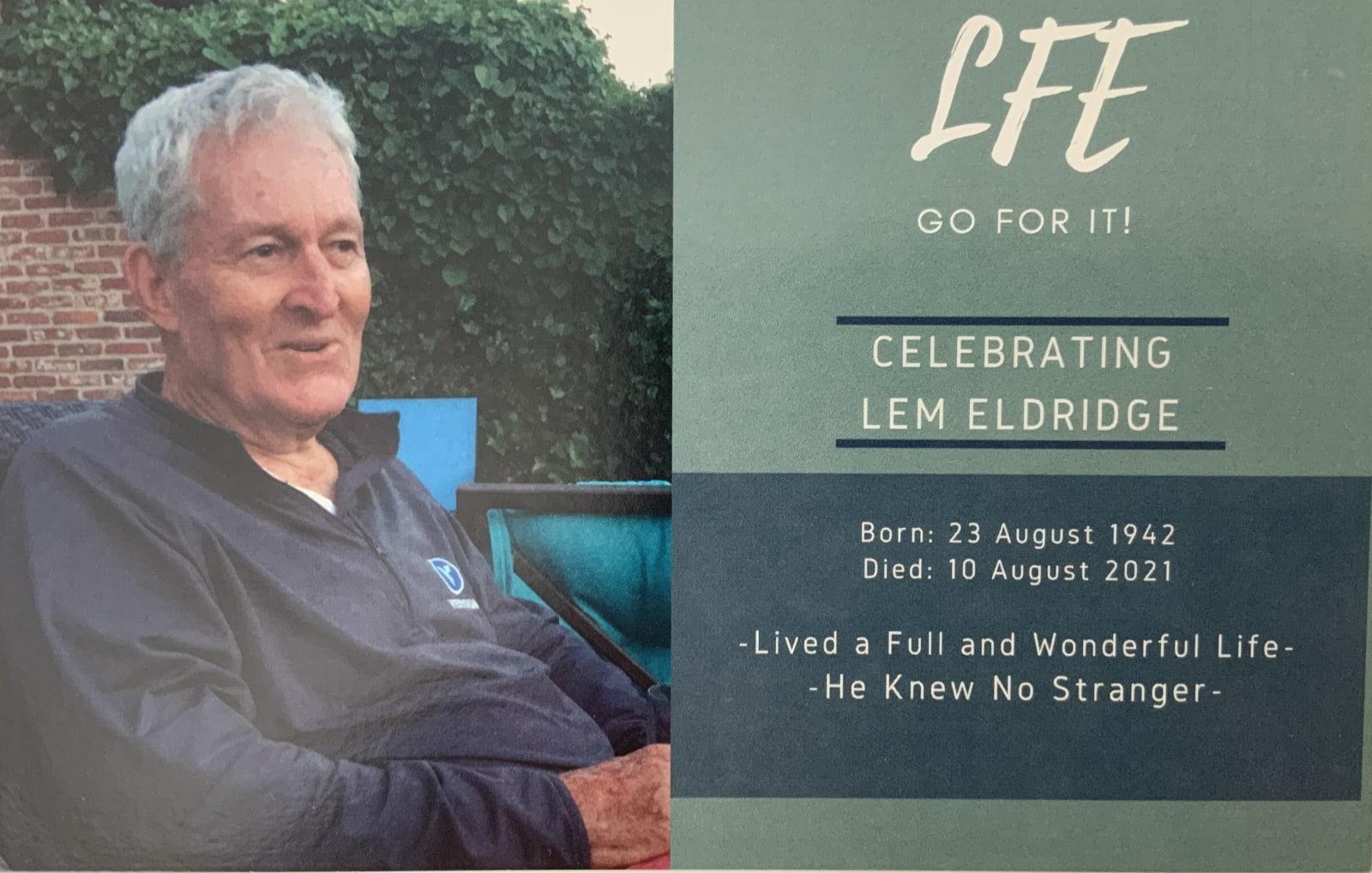 Lem Eldridge - Celebration borchure