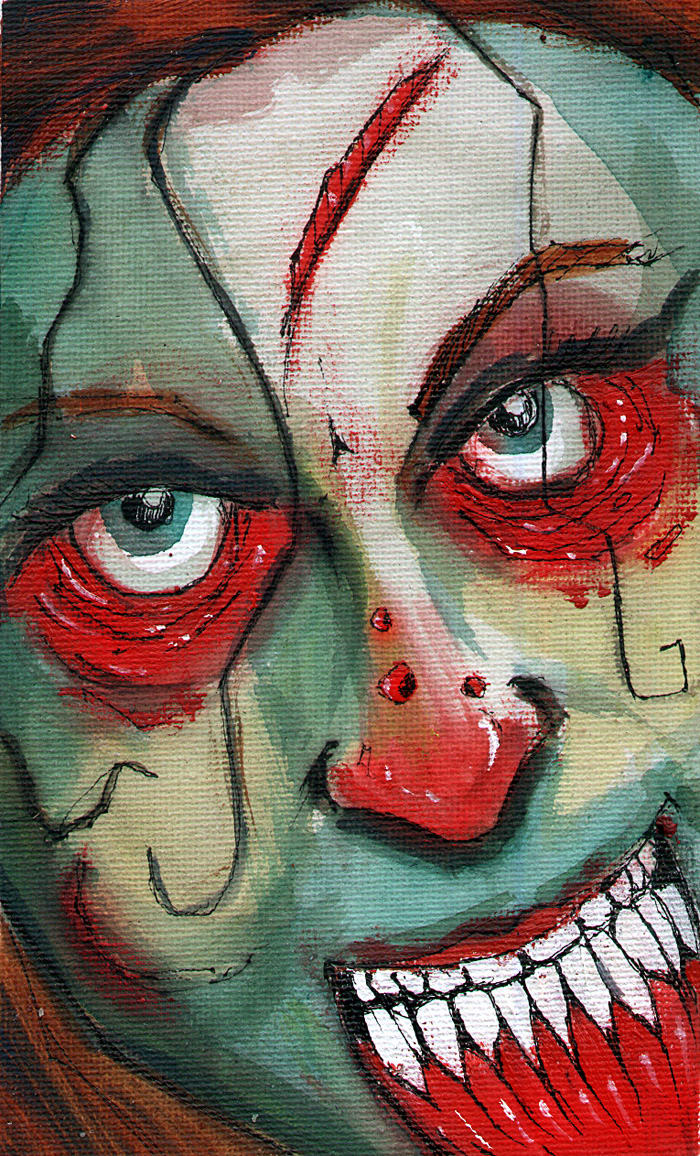 Amanda Lindsay as #96 Zombie created by Byron Rempel Jul 2012