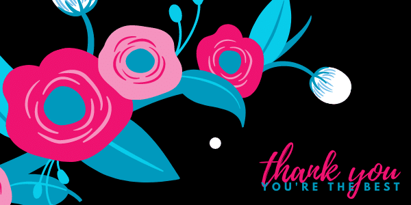 thank you notes header with flowers