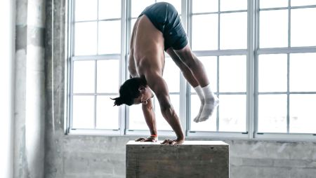 Straight Arm Press To Handstand