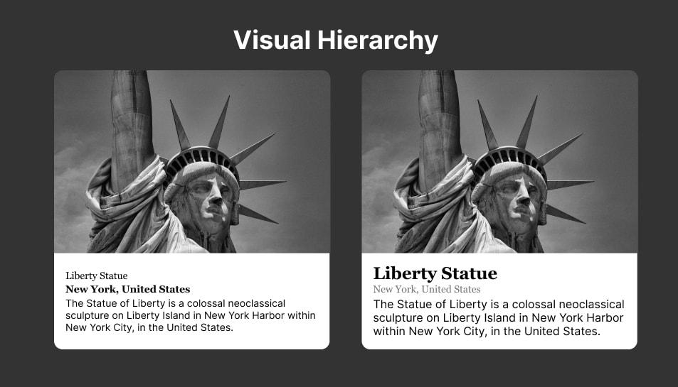 Ilustrasi Visual Hierarchy