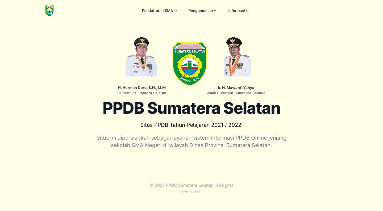 PPDB Sumatera Selatan 2021