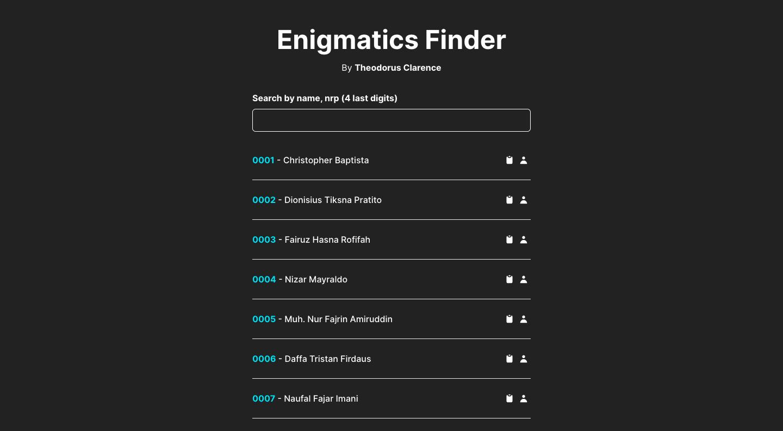 Enigmatics Finder