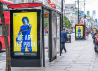 Nike London Clubs campaign OOH - bus stop