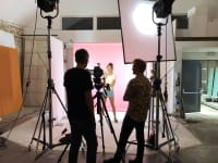 3ina behind the scenes shoot