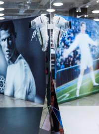 CR7 Nike football boot display