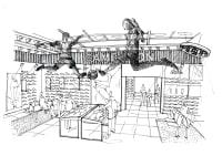 Lillywhites bootroom original sketch