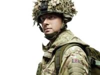 Portrait of man in army uniform