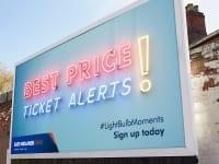 East Midlands Train 'Best price tickets alert' billboard advert
