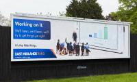 East Midlands Train 'Working on it' billboard advert