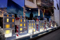 Christmas themed street of toy houses