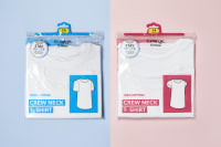 Packaging design for George white crew neck t-shirts