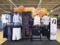 George graphic clothing rack design