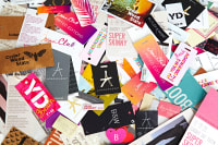 Collection of clothing tags