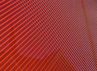Red crosshatch graphic