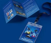 Playstation leaflet and lanyard, digital design awards