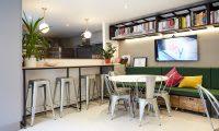 London studio - cafe area