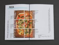 Pizza menu spread