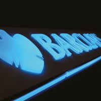 Barclays illuminated signage