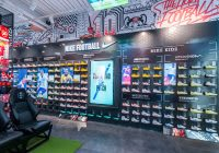 Nike football boot wall