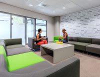 Crocs HQ interior seating area