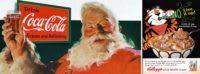 Coca-cola's Santa Claus and Tony the Tiger