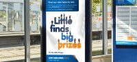 East Midlands Trains 'Little finds big prizes' advert design