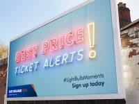East Midlands Train 'Best price tickets alert' billboard advert