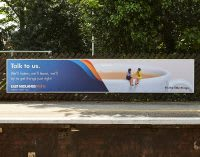 East Midlands Train 'Talk to us' train platform advert