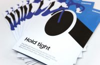 'Hold tight' cycling flyer