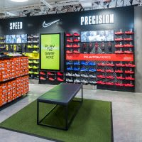 Nike Football boot wall with interactive game
