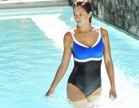 Women walking in swimming pool