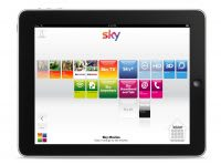 Sky iPad dashboard UI design