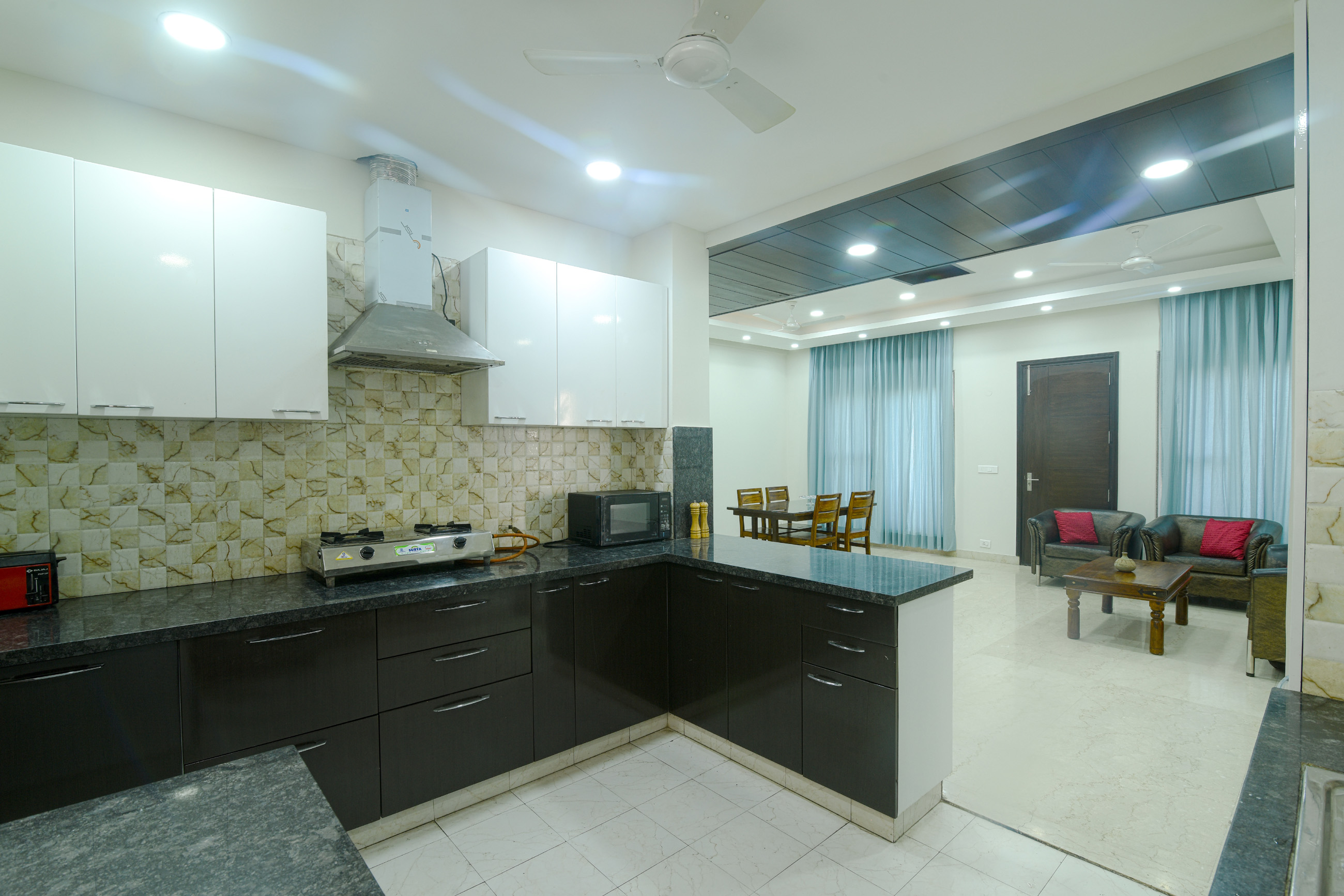 Perch Grove - Golf Course Road, 3 BHK, Side view, Kitchen