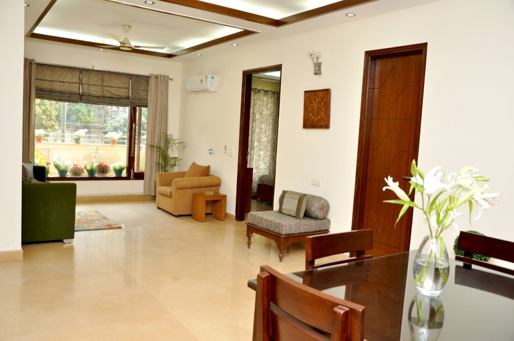 Perch Grove Apartments (Greenwood) - 3 BHK Living Room