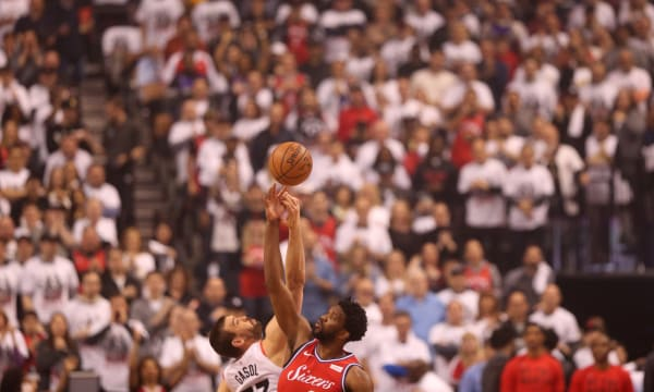 Toronto Raptors beat the Philadelphia 76ers 92-90 in game seven of their second round series in the NBA play-offs