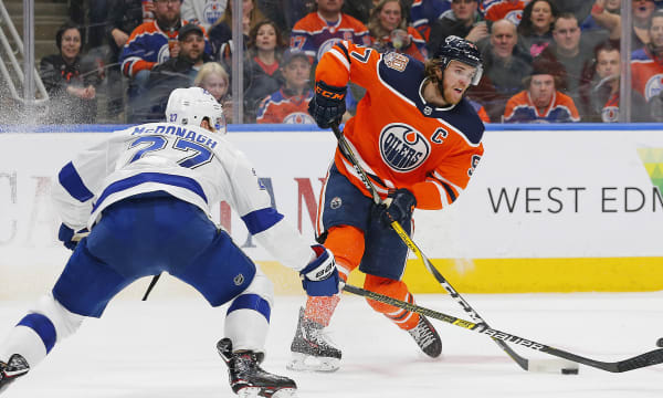 NHL: Tampa Bay Lightning at Edmonton Oilers