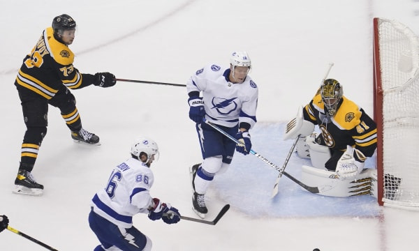 NHL: Stanley Cup Playoffs-Tampa Bay Lightning at Boston Bruins