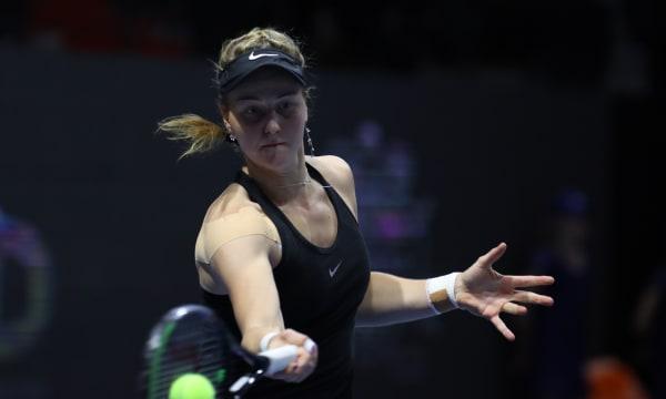 Ludmila Samsonova of Russia plays against Anastasia Potapova...