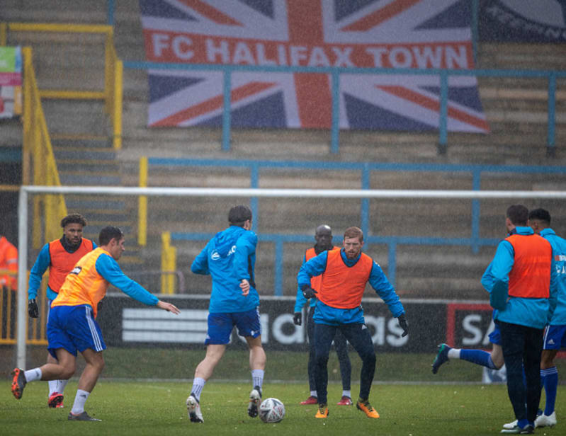 FC Halifax Town v AFC Wimbledon - Emirates FA Cup - Second Round - The Shay