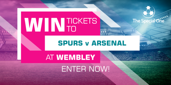 <p>2 tickets to the Spurs v Arsenal match at Wembley Stadium on <strong>Saturday 10th February 2018</strong>. Kick Off <strong>12.30</strong>.</p>