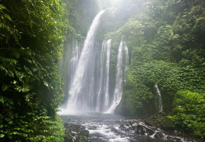 Benang Stokel and Benang Kelambu Waterfall in Benang Stokel and Benang Kelambu Waterfall, Lombok