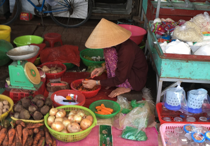 Mekhong Delta & Cai Be Village - Various goods in the local market in Mekhong Delta & Cai Be Village, Ho Chi Minh