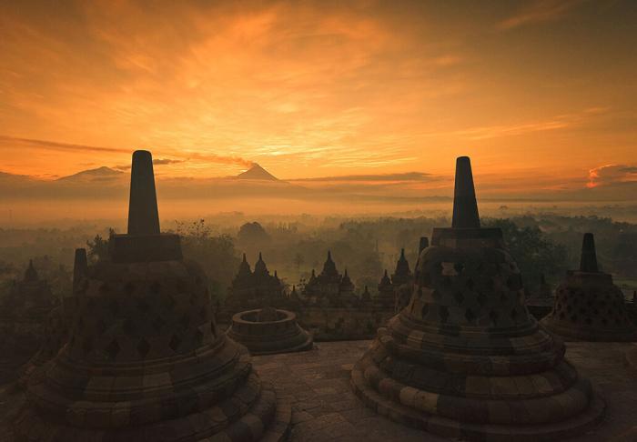 Borubudur in Borubudur, Yogyakarta