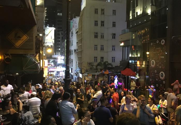 Lan Kwai Fong in Lan Kwai Fong, Hong Kong