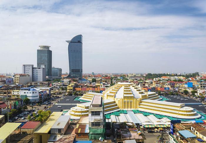 Central Market in Central Market, Phnom Phen