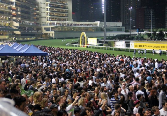 Happy Valley Racecourse in Happy Valley Racecourse, Hong Kong