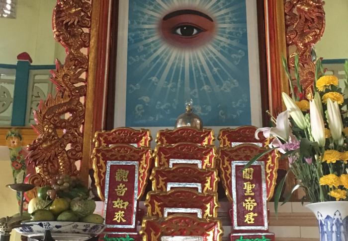 Cao Dai Temple -  in Cao Dai Temple, Ho Chi Minh