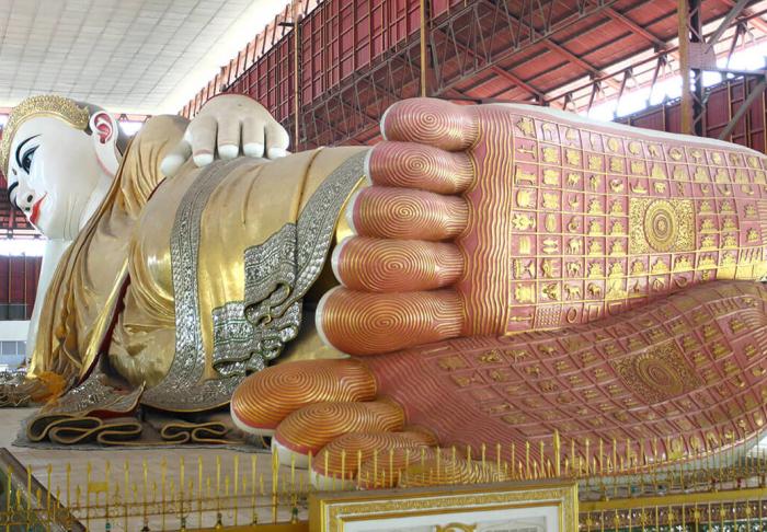Reclining Buddha in Reclining Buddha, Yangon