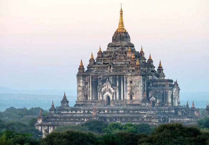 Shwezigon Pagoda in Shwezigon Pagoda, Bagan
